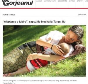 Gorjeanul Alaptarea e Iubire - APCA -Cristina Nichitus Roncea