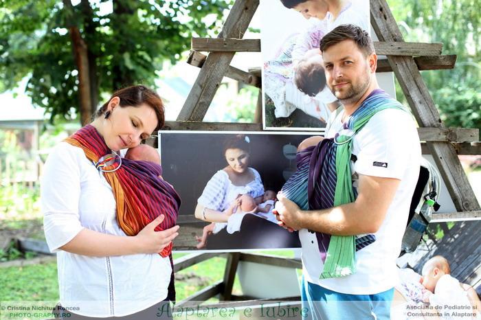 Alaptarea e Iubire - de Cristina Nichitus Roncea la Muzeul Satului 2015 cu Alexandra Hulea, gemenii si sotul