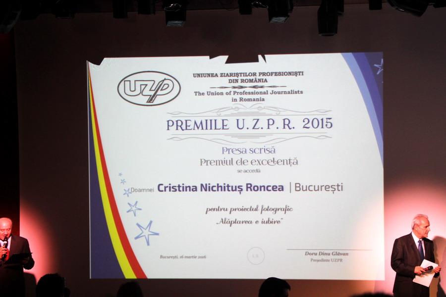 Cristina Nichitus Roncea - Alaptarea e Iubire - Premiile UZPR 2015 - 2016 - Foto Valentin Tigau