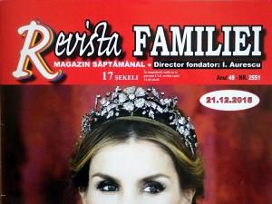 Revista Familiei din Israel despre campania Alaptarea e Iubire de Cristina Nichitus Roncea decembrie 2015