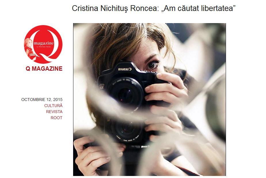 """Radu Beligan: Cristina Nichituş Roncea ne înfrumuţesează lumea în care trăim. Interviu despre """"Alăptarea e Iubire"""" în Q Magazine"""