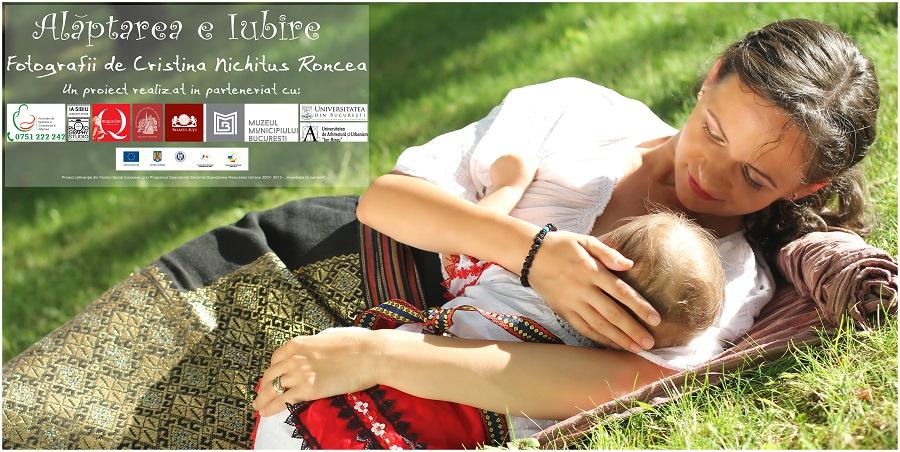 """Expoziţia """"Alăptarea e Iubire"""" şi la Târgu Jiu, între 2 – 12 decembrie, pe Aleea Trandafirilor din oraşul lui Brâncuşi"""