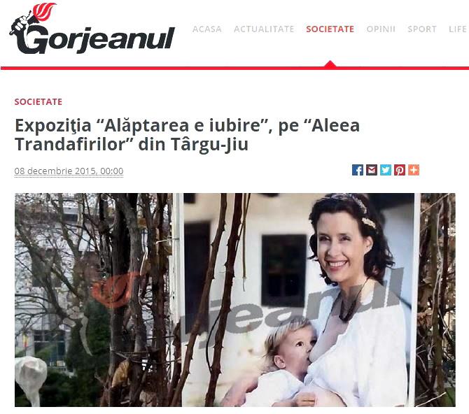 Expozitia Alaptarea e Iubire de Cristina Nichitus Roncea la Targu Jiu