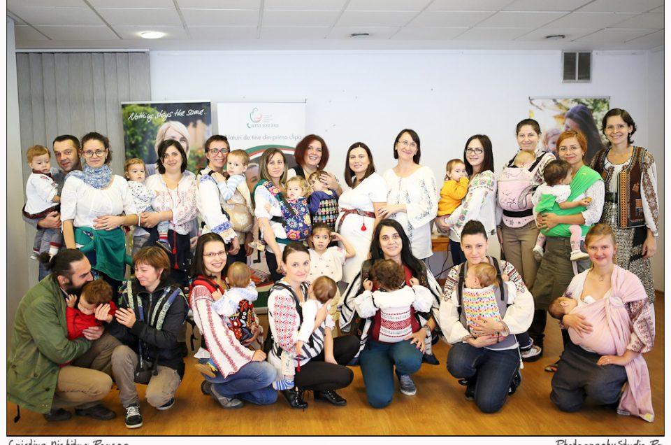 Împreună pentru Babywearing şi Şcoala Părinţilor – Children Action România. FOTOGRAFII de la Sărbătorirea International Babywearing Week