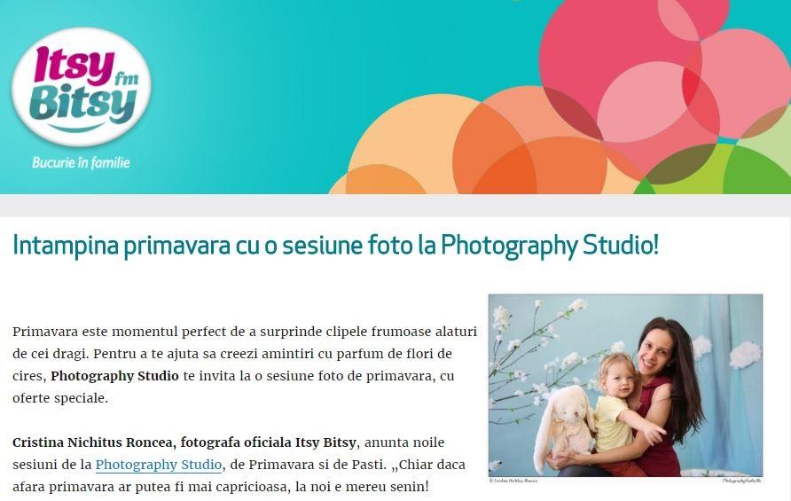 Întâmpină primăvara cu o sesiune foto la Photography Studio! Recomandarea Itsy Bitsy, cu fotografii de Cristina Nichituş Roncea